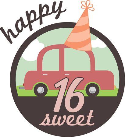 Enjoy your  Super Sweet 16 birthday with this design