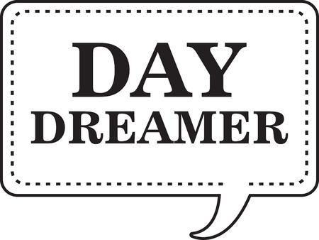 Gebruik deze dromen symbool op uw kleding en accessoires Stock Illustratie