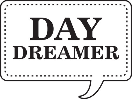 dreamer: Use this dreaming symbol on your clothing and accessories Illustration
