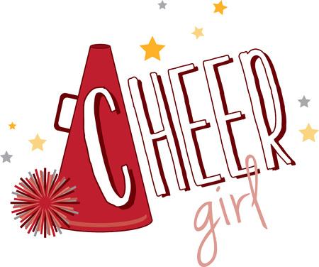 sport team: Support a favorite sports team with a cheerleader design.