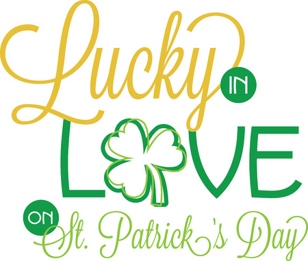 Saint Patricks Day decorative shamrock saying for your holiday designs. Illustration
