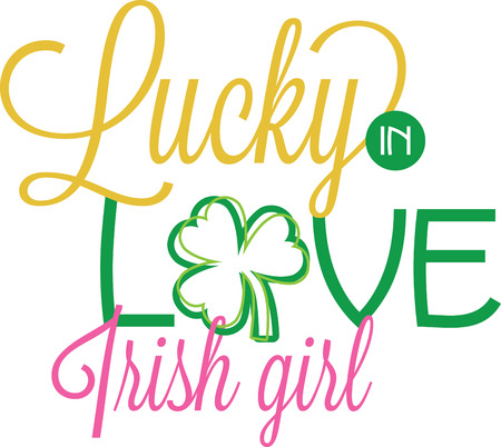 st  patty's: Saint Patricks Day decorative shamrock saying for your holiday designs. Illustration