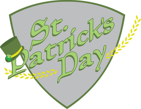 saint patricks: Saint Patricks Day decorative tophat saying for your holiday designs. Illustration