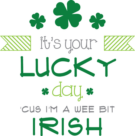 saint patricks: Saint Patricks Day decorative shamrock saying for your holiday designs. Illustration