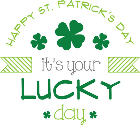 saint pattys day: Saint Patricks Day decorative shamrock saying for your holiday designs. Illustration