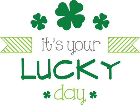 Saint Patrick's Day decorative shamrock saying for your holiday designs. 向量圖像