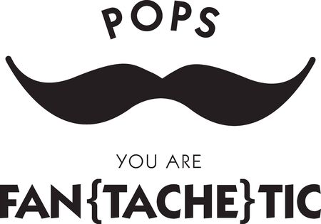 Funny mustache saying for the man in your life. Фото со стока - 42637994