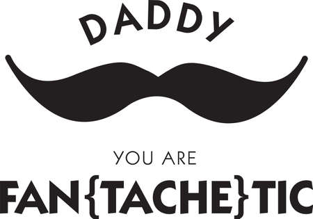 Funny mustache saying for the man in your life. Фото со стока - 42637995