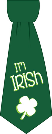 Saint Patricks Day shamrock tie for your holiday designs. Illustration