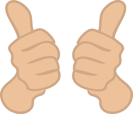 Two thumbs up Saint Patricks Day design. Illustration
