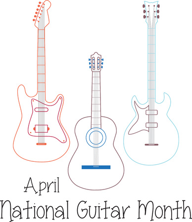 trio: Outlined guitar trio for music enthusiasts.