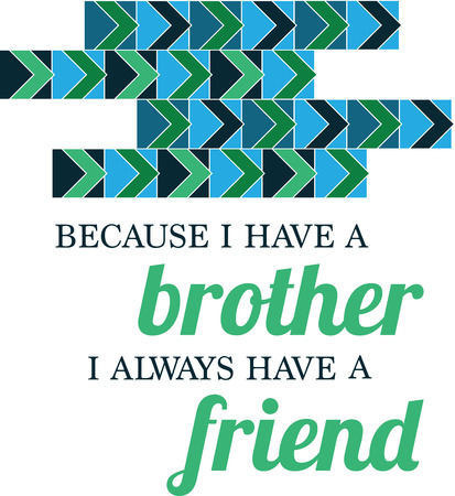 A best friend is like a four leaf clover, hard to find but lucky to have.  Illustration