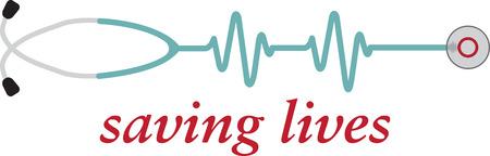 Un stéthoscope électronique Moniteur de fréquence cardiaque est un dispositif d'écoute facile et amusant Banque d'images - 42750057