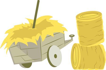bála: Annyira szórakoztató dolgozik a farmon. Vedd meg ezt a tervezési megmutatni le. Illusztráció