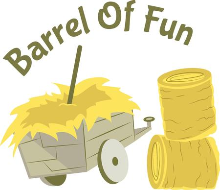 bales: So much fun working on the farm.  Get this design to show it off.