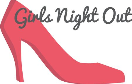 girls night out: Girls love to dress up in high heels.  They will love this design.