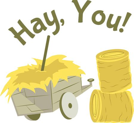 hay bales: So much fun working on the farm.  Get this design to show it off.
