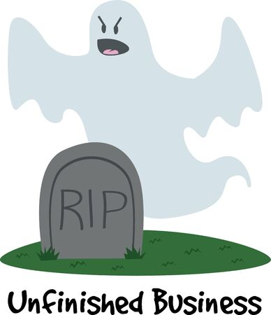 fictional character: This is the perfect tombstone ghost for your Halloween party. Illustration
