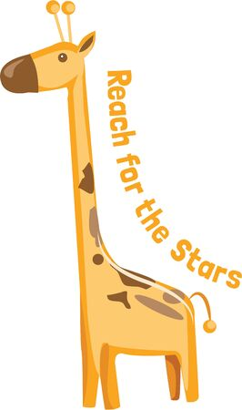 A styling giraffe brings the wild of the jungle to the products of your imagination.  Great for jungle theme dcor!
