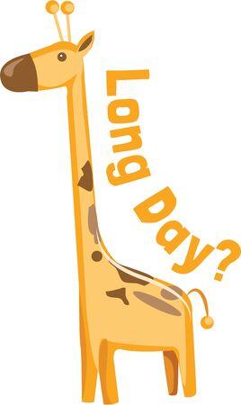 Een styling giraffe brengt de wilde van de jungle naar de producten van uw verbeelding. Geweldig voor jungle thema decor!