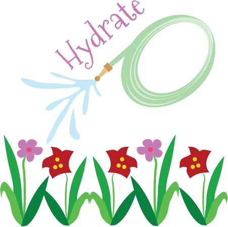 hoses: April showers, brings may flowers.  Grab this image for your springtime design. Illustration