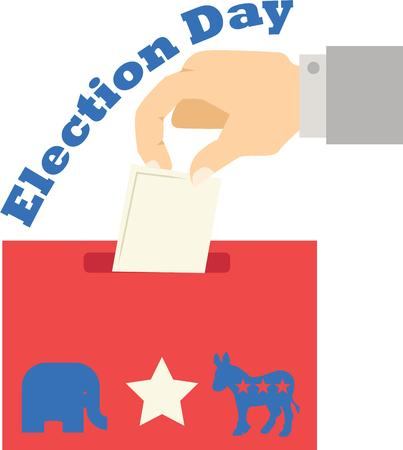 democratic donkey: Use this design for voting day.  The perfect ballot box.