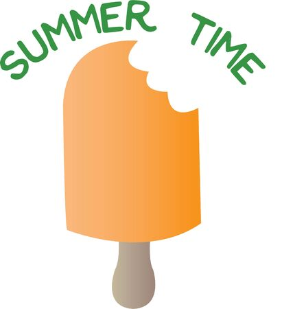 lollies: Ice cream pops are great to enjoy on a hot summer day! Illustration