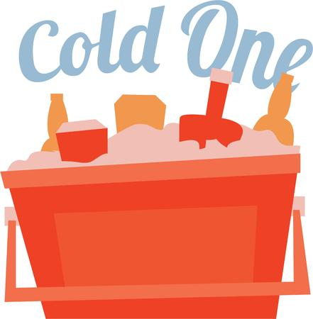 ice chest: Take this image with you on the picnic.  Everyone enjoys a cool refreshing drink.