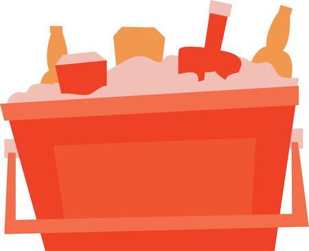 Neem dit beeld met u op de picknick. Iedereen geniet van een koel drankje.