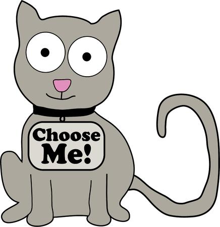 This cute kitty is a perfect image for your next design.