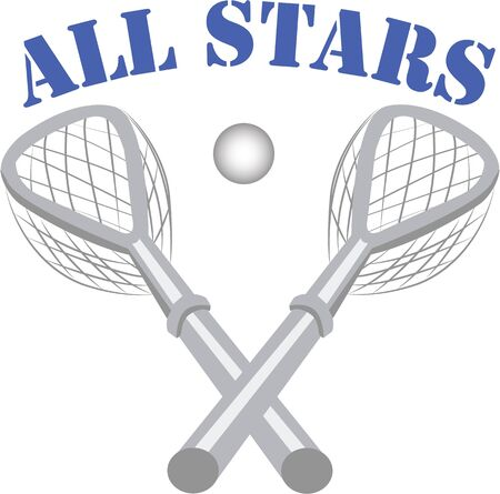 crosse: This is the perfect image for the All Stars Lacrosse team.  They will love it!