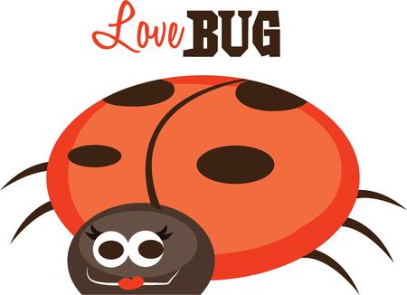 spring time: This cute ladybug is perfect for your spring time design.