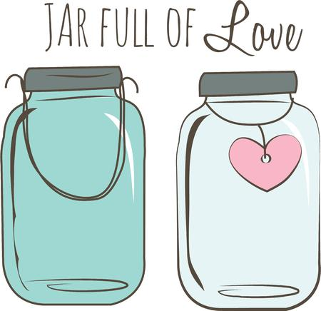 Jars of love makes a great gift for Valentines day.