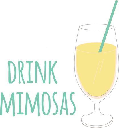 mimose: Champagne, vino o tini per la vostra prossima festa! Indossare questo per il vostro partito di pianificazione. Dimostra si è pronti a brindare!