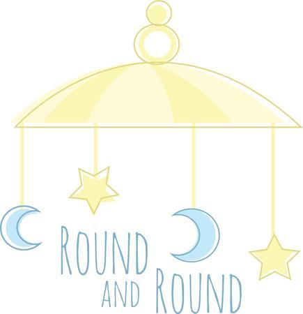 Questo simpatico cellulare è perfetto per le decorazioni di un baby shower. Archivio Fotografico - 42750395