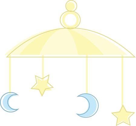 Questo simpatico cellulare è perfetto per le decorazioni per un bambino doccia. Archivio Fotografico - 42750399