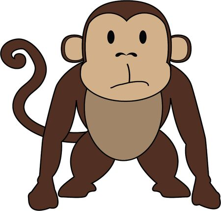 toddlers: This cute monkey is perfect in a toddlers room.