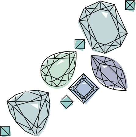 semiprecious: Add beauty and elegance to your creation with this collection of semiprecious stones. Illustration