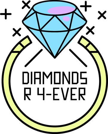 schoonheid en elegantie toe te voegen aan uw creatie met deze verzameling van kostbare diamanten ringen. Stock Illustratie