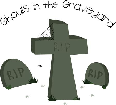 headstone: This design is sure to please Halloween tricksters of all ages.  Scare up some fun with this design on t-shirts, hoodies, hats, warm-ups and more!