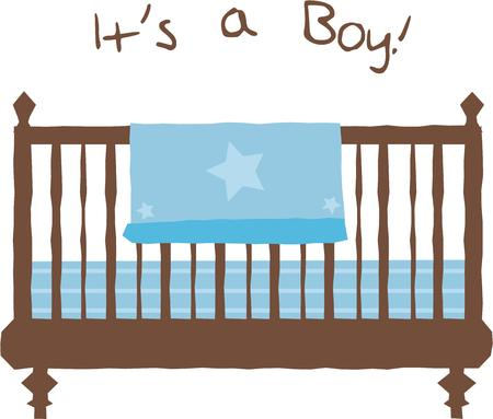 This is the perfect design for a baby show.  Add it to napkins or other decorations. Illusztráció