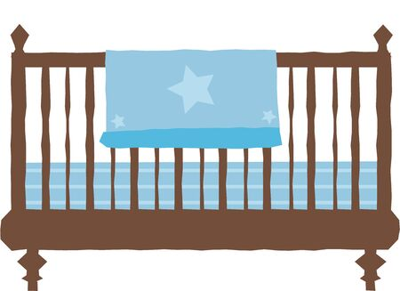 furnishing: This is the perfect design for a baby show.  Add it to napkins or other decorations. Illustration