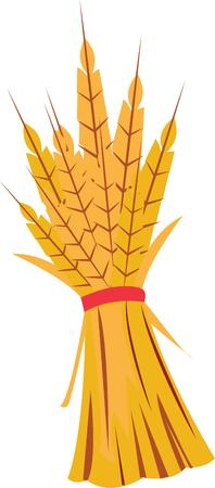 This Autumn wheat design is perfect for your fall decorations. Illusztráció