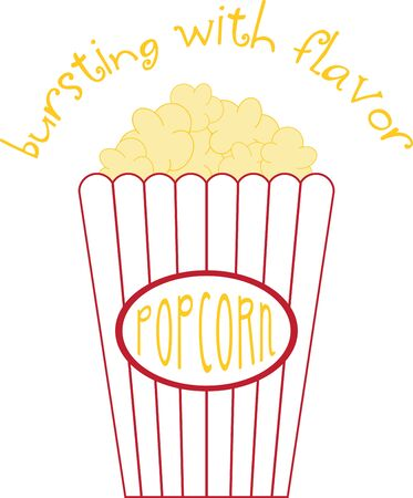 Eat Popcorn  maintain your calm! Your Kids will love this popcorn design on their school backpack or clothing.