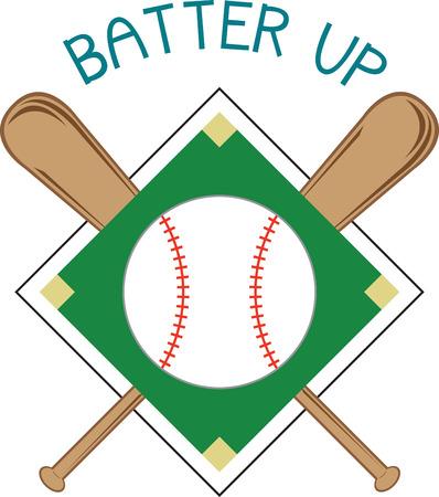 baseball diamond: Llevar la emoci�n del deporte favorito de Estados Unidos a sus creaciones. Este es un dise�o asombroso para embellecer una camisa especial o una bolsa de deporte para esa fan especial de b�isbol. Vectores