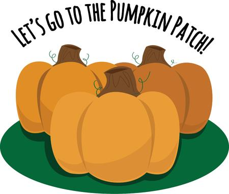 pumpkin patch: The weather is turning cooler and its time to get your home ready for fall.  Embrace the festive colors of the season with this design on your autumn projects!