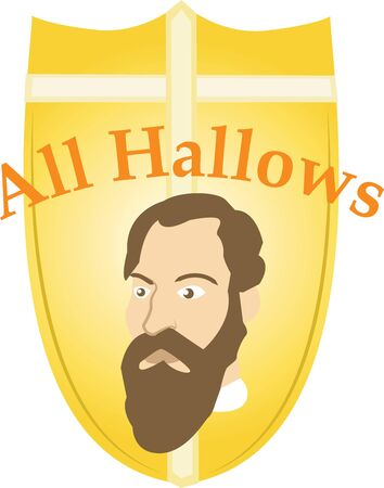 hallows: Make All Saints Day festive with this design on tees, totes, aprons, pillows, kitchen towels, and more! Illustration