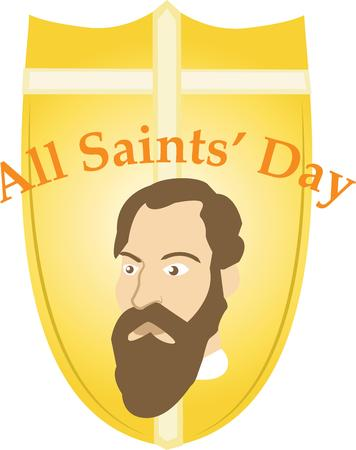 all saints day: Make All Saints Day festive with this design on tees, totes, aprons, pillows, kitchen towels, and more! Illustration