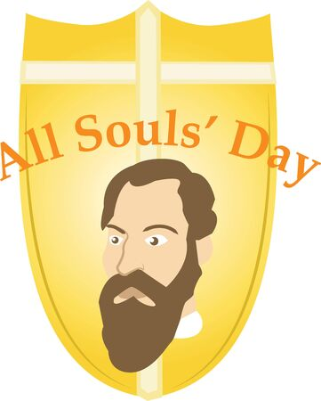 Make All Saints Day festive with this design on tees, totes, aprons, pillows, kitchen towels, and more! Ilustração
