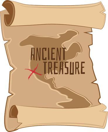 이 보물 찾기 맵으로 모험을 떠나 매장 된 물건을 찾으십시오. 티셔츠, 스웨터, 토트 백 등 훌륭한 디자인! 일러스트